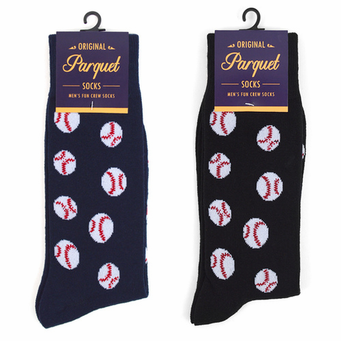 Men's Baseball Dress Socks<br>NAVY OR BLACK!