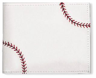 Men's White Baseball Wallet