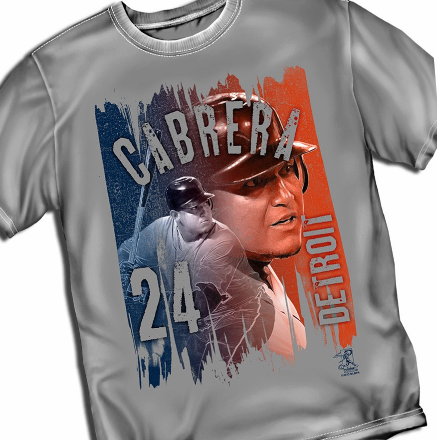 Miguel Cabrera Paint Brush T-Shirt<br>Short or Long Sleeve<br>Youth Med to Adult 4X