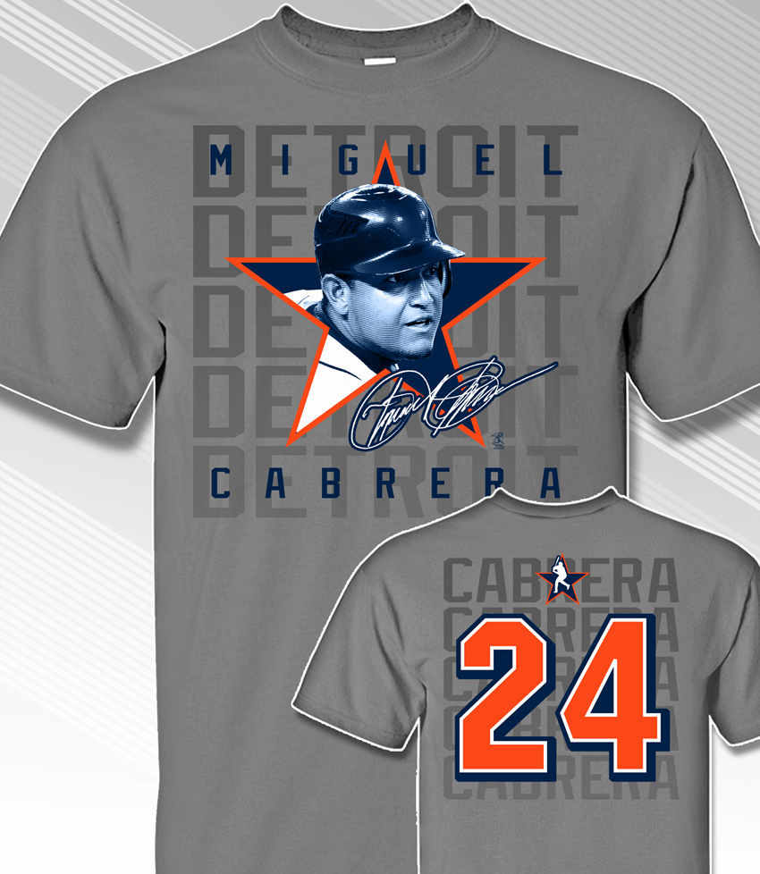 Miguel Cabrera Star Power T-Shirt<br>Short or Long Sleeve<br>Youth Med to Adult 4X