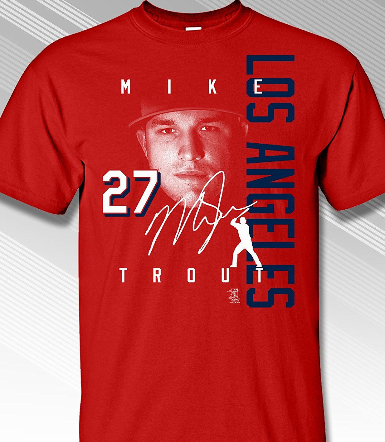 Mike Trout Los Angeles Signature T-Shirt<br>Short or Long Sleeve<br>Youth Med to Adult 4X