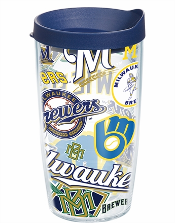 Milwaukee Brewers All Over Wrap Set of Cups with Lids by Tervis