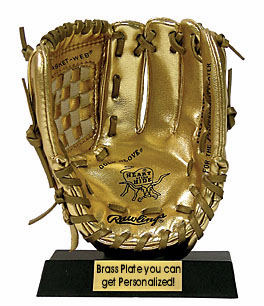 WEEKLY SPECIAL #12<br>Miniature Rawlings Gold Glove Award<br>IN STOCK NOW!