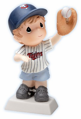 Minnesota Twins Boy Catching Baseball Retired Figurine by Precious Moments<br>ONLY 4 LEFT!