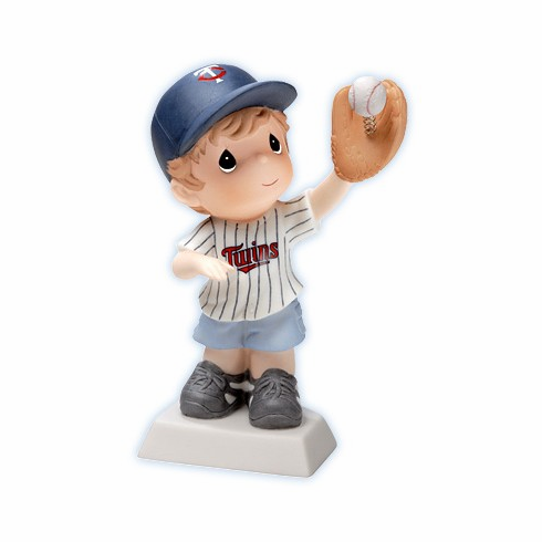 Minnesota Twins Boy Catching Baseball Retired Figurine by Precious Moments<br>ONLY 3 LEFT!