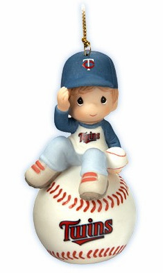 Minnesota Twins I Have A Ball With You Baseball Boy Retired Ornament by Precious Moments