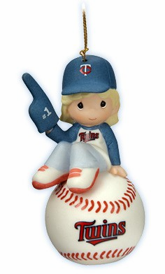 Minnesota Twins I'm Your Number One Fan! Baseball Girl Retired Ornament by Precious Moments<br>ONLY 3 LEFT!
