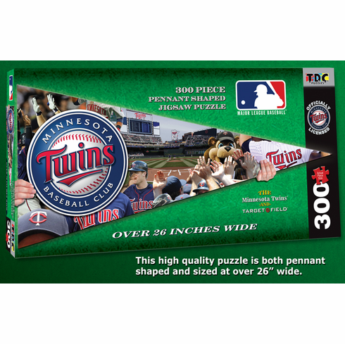Minnesota Twins MLB Pennant Shaped 300pc Puzzle
