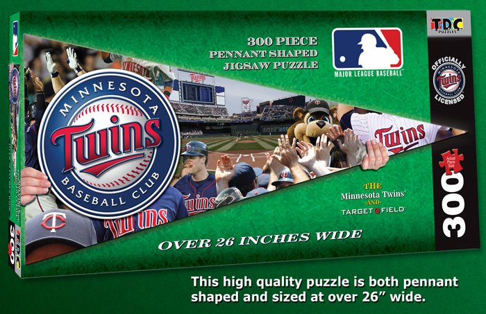 Minnesota Twins MLB Pennant Shaped 300pc Puzzle<br>ONLY 1 LEFT!