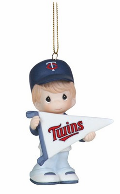 Minnesota Twins My Team's A Home Run Baseball Boy Retired Ornament by Precious Moments<br>ONLY 6 LEFT!