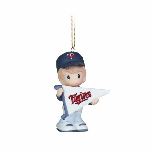 Minnesota Twins My Team's A Home Run Baseball Boy Retired Ornament by Precious Moments<br>ONLY 5 LEFT!