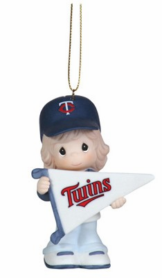 Minnesota Twins My Team's A Home Run Baseball Girl Retired Ornament by Precious Moments<br>ONLY 3 LEFT!