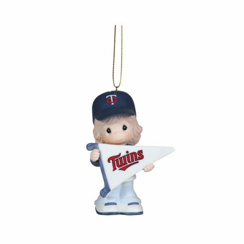 Minnesota Twins My Team's A Home Run Baseball Girl Retired Ornament by Precious Moments<br>ONLY 2 LEFT!