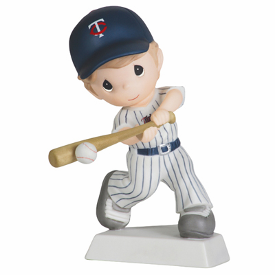 Minnesota Twins Swing For The Fence Boy Swinging Retired Baseball Figurine by Precious Moments<br>ONLY 2 LEFT!