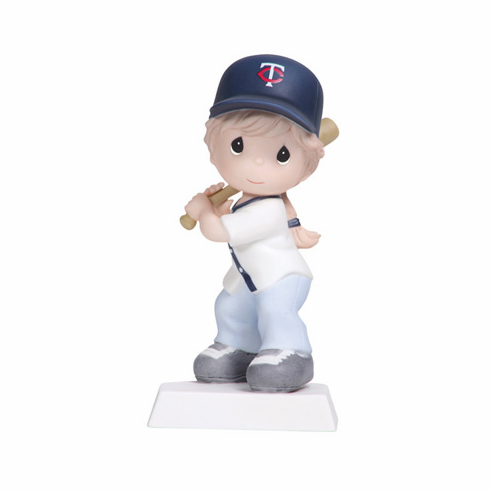 Minnesota Twins Swing For The Fence Girl Batting Retired Baseball Figurine by Precious Moments<br>ONLY 4 LEFT!