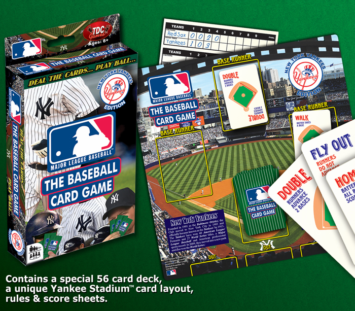 MLB Baseball Card Game - New York Yankees Edition<br>ONLY 3 LEFT!