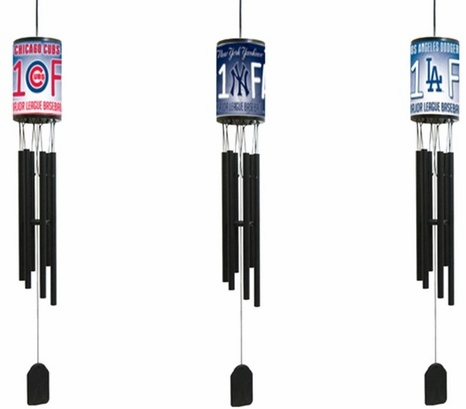"MLB Baseball Team 33"" Windchimes"