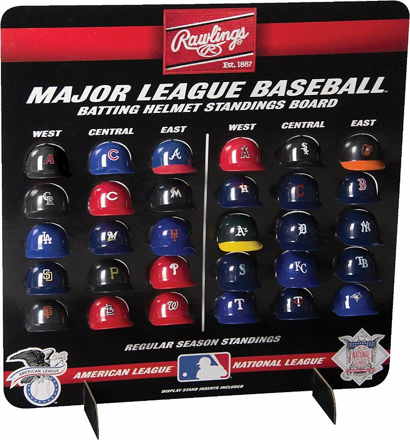 MLB Batting Helmet Standings Board by Rawlings<br>ONLY 2 LEFT!