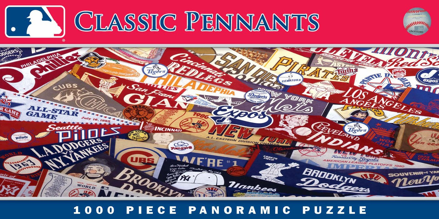 MLB Classic Pennants 1000pc Panoramic Puzzle