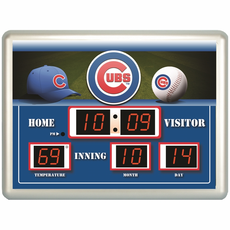 MLB Team Baseball 14x19 Scoreboard Wall Clock