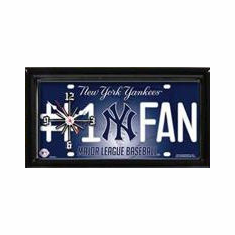 MLB Baseball Team Framed License Plate Clock