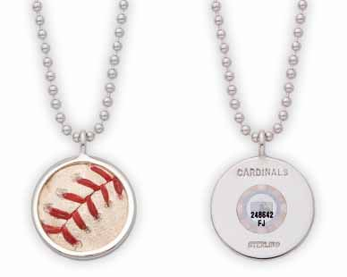 MLB Team Game Used Baseball Pendant and Necklace