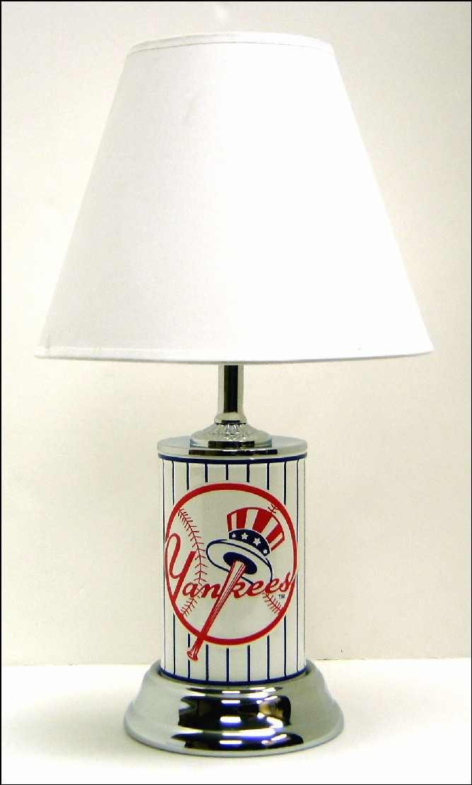 MLB Baseball Team License Plate Table Lamp