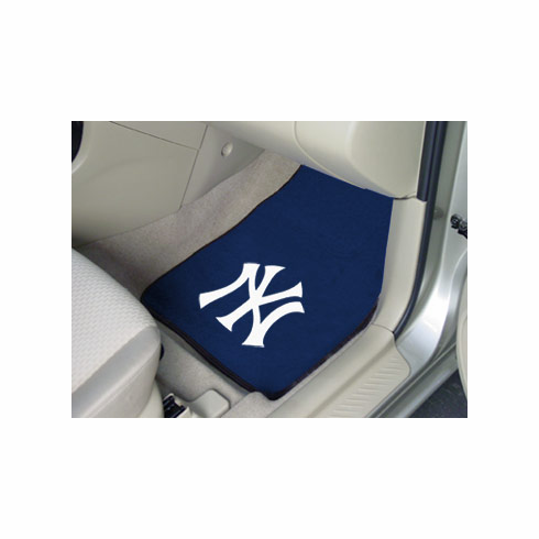 MLB Team Logo Set of Two Car Mats