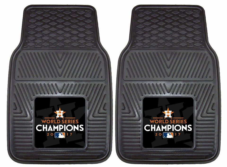 MLB Team Logo Set of Two Heavy Duty Vinyl Car Mats