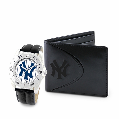 MLB Team Men's Watch and Wallet Gift Set