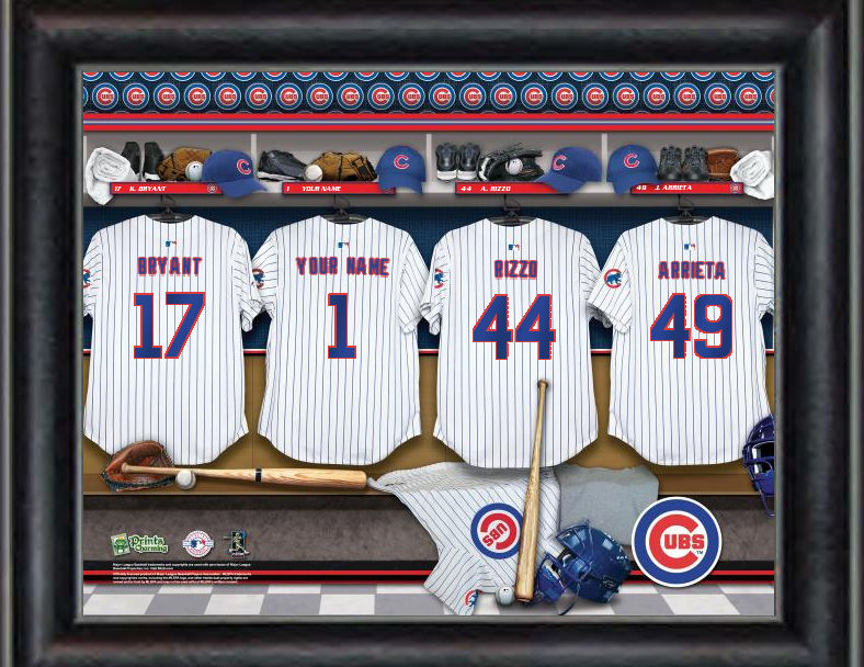 WEEKLY SPECIAL #6<br>MLB Team Personalized Locker Room Framed Print