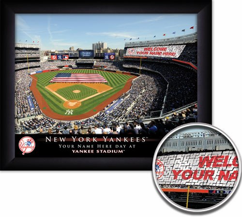 MLB Team Personalized Stadium Card Stunt Framed Print