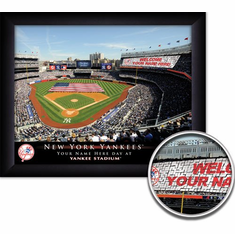 MLB Team Personalized Stadium Card Stunt 11x14 Framed Print