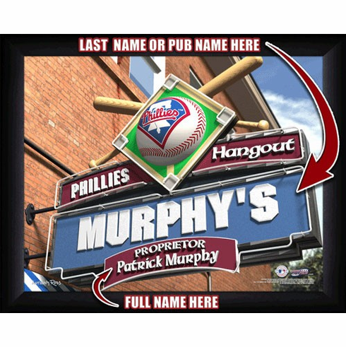 MLB Team Sports Pub Framed Print