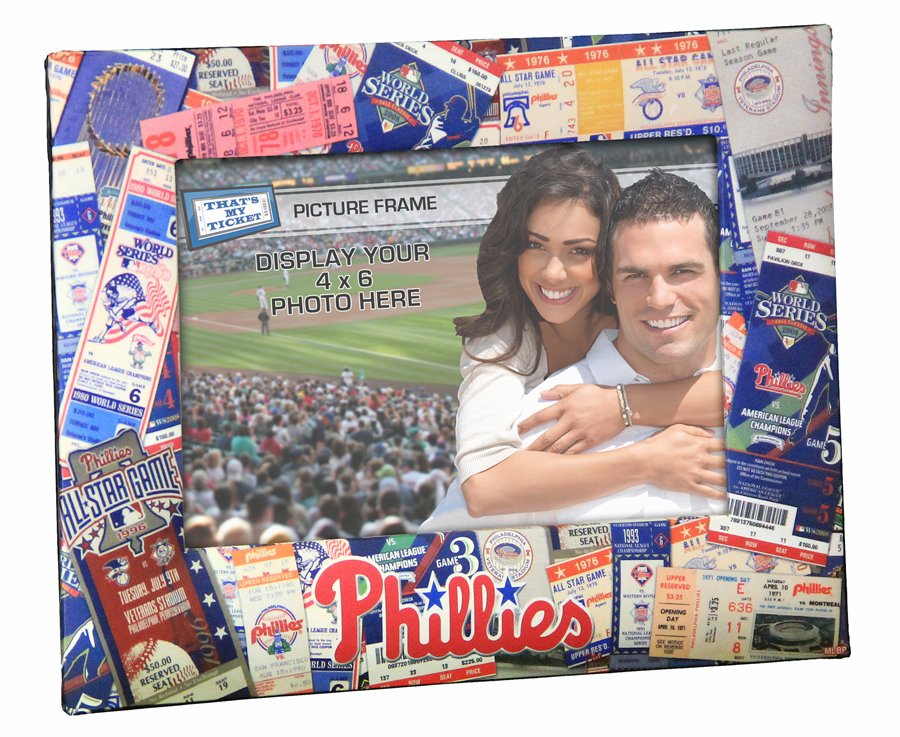 MLB Team Ticket Collage 4x6 Photo Frame