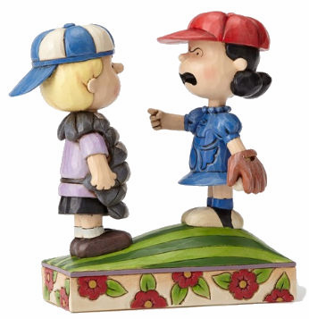 Mound of Trouble Peanuts Schroeder and Lucy Baseball Figurine<br>LESS THAN 6 LEFT!