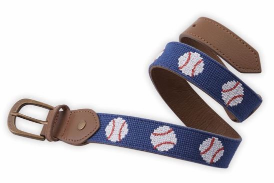 Needle Point / Leather 2T-5T Baseball Belt