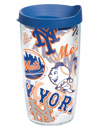 New York Mets All Over Wrap Set of Cups with Lids by Tervis