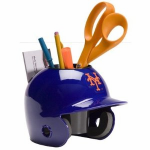 New York Mets Baseball Helmet Desk Caddy<br>ONLY 3 LEFT!