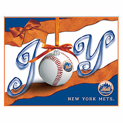 New York Mets JOY Baseball Boxed Christmas Cards<br>ONLY 2 LEFT!