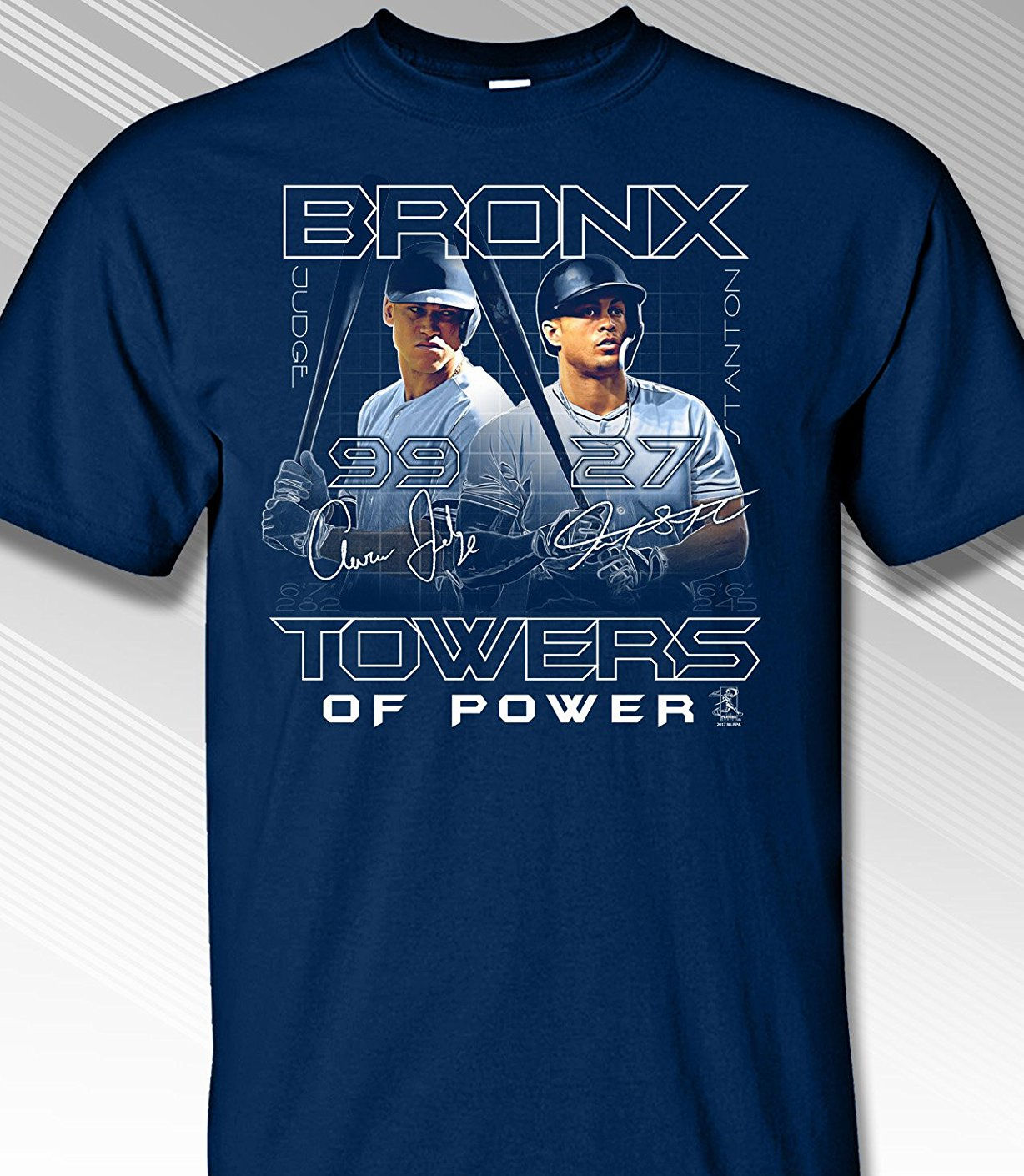 Aaron Judge and Giancarlo Stanton New York Bronx Towers of Power T-Shirt<br>Short or Long Sleeve<br>Youth Med to Adult 4X