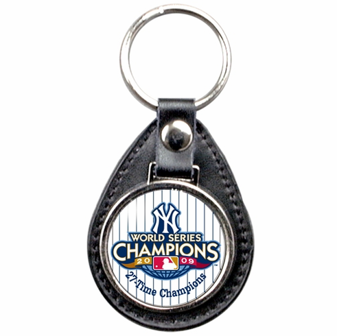 New York Yankees 2009 World Series Champions Leather Fob Key Chain