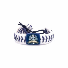 New York Yankees 27 World Championships Baseball Seam Bracelet