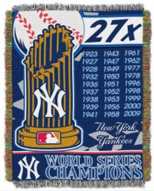 New York Yankees 27x Champions Tapestry Throw Blanket<br>ONLY 6 LEFT!