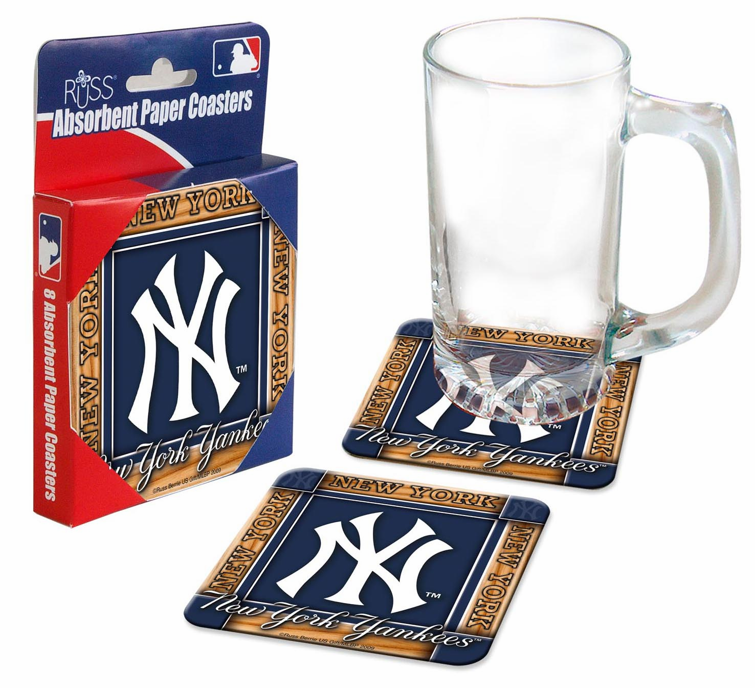 New York Yankees Absorbent Paper Coaster Set