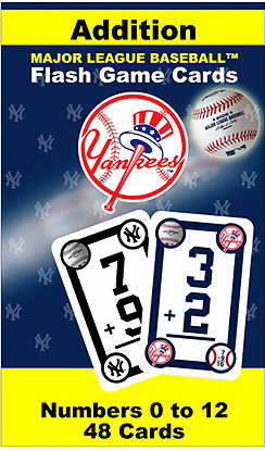 New York Yankees Addition Flash Cards