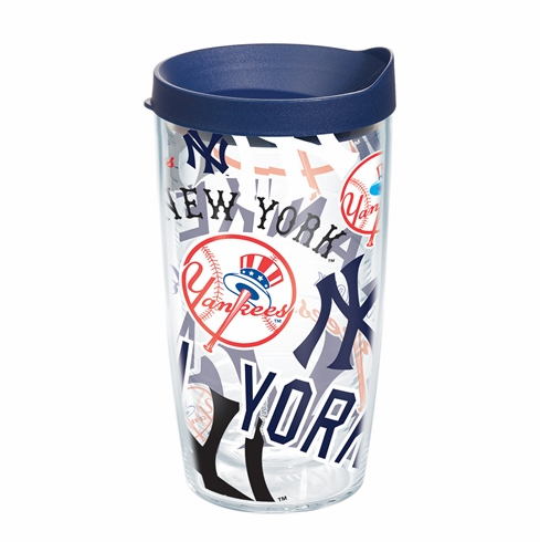 New York Yankees All Over Wrap Set of Cups with Lids by Tervis