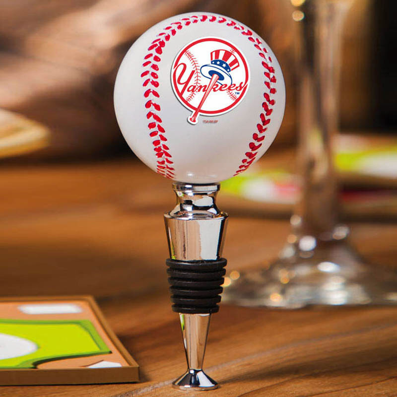 New York Yankees Baseball Bottle Stopper<br>ONLY 1 LEFT!