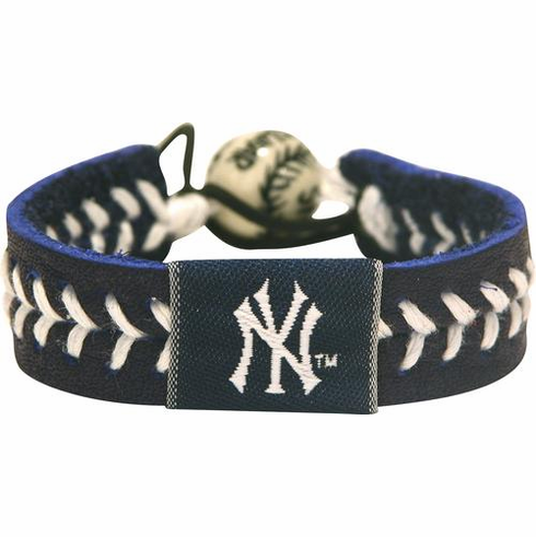 New York Yankees<br>Baseball Seam Team Colored Bracelet
