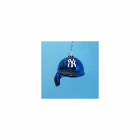 New York Yankees Batting Helmet Glass Ornament